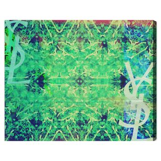 Oliver Gal Jardin Majorelle Reverse Green Canvas Wall Art