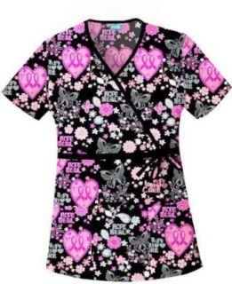 Scrub HQ 4788C Mock Wrap Scrub Top Clothing