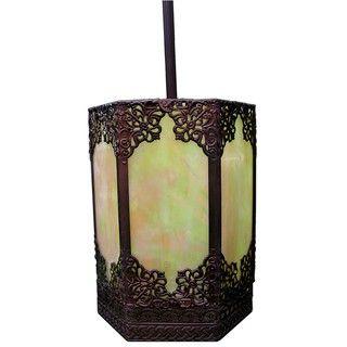 Warehouse of Tiffany Satin Bronze Pendant Light