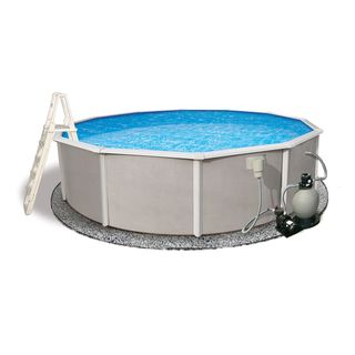 Belize 27 foot Round Swimming Pool Package