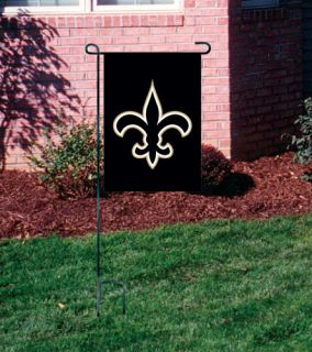 New Orleans Saints 15 inch Garden Flag and Stand
