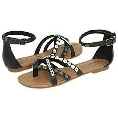 Madden Girl Bleaker Black Paris Sandals
