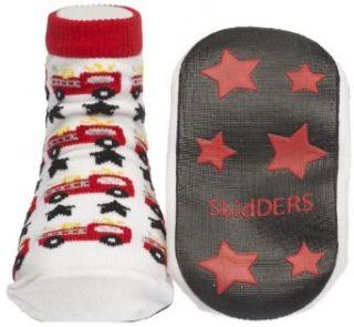 Fire Trucks Skidders Baby Gripper Socks, size 6 months