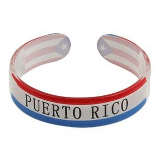 Rasta Plastic Bangles Puerto Rico W03S63B Clothing