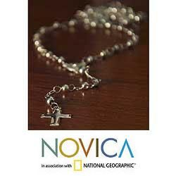 Sterling Silver Passion Rosary Necklace (Mexico)