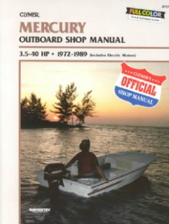 Mercury Outboard Shop Manual 3.5 40 Hp 1972 1989 (Paperback
