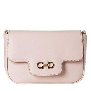 Salvatore Ferragamo Fancy Pale Pink Embossed Mini Cross body Bag