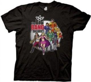 Big Bang Theory Comic Book Group Mens Tee Clothing