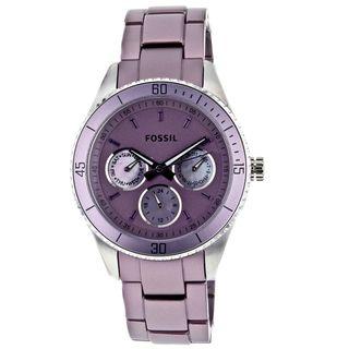 Fossil Womens Purple Aluminum and Steel Stella Watch
