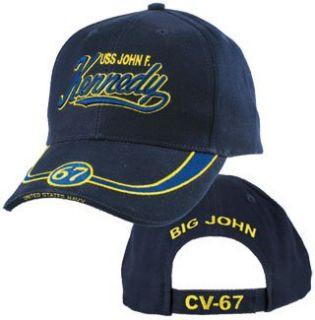 USS John F. Kennedy CV 67 Low Profile 3D Baseball Cap