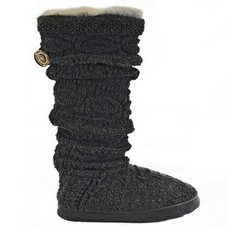 Muk Luks Womens Dark Grey Slippers