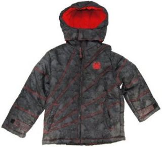 Marvel Warm Dark Gray Spider Man Toddler Boys Puffer