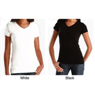 Womens Soft Cotton V Neck T shirt