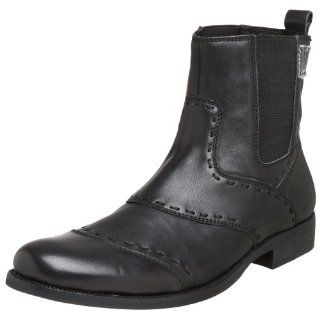RJ Colt Mens Cause Tumbled Leather Boot,Black,7 M US Shoes