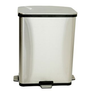 iTouchless 13 Gallon Stainless Steel Step Sensors Trash Can