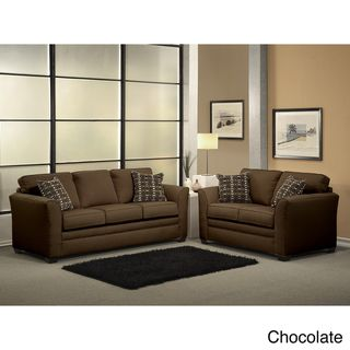 Mona 2 piece Chenille Fabric Sofa and Loveseat Set