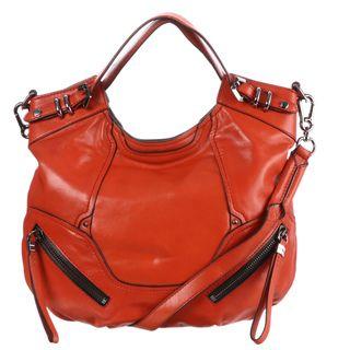 Oryany Tegan Red Leather Tote Bag