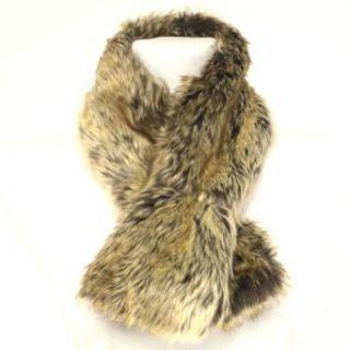 Warm Faux Fake Fur Neck Warmer Wrap Scarf Natural