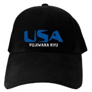 Caps Black Usa Fujiwara Ryu  Martial Arts Clothing