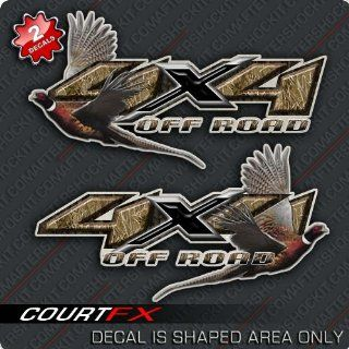 Ringneck Pheasant Hunting 4x4 Truck Camo Decal: Sports