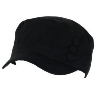 New Rain Water Repellent Cadet Military Cap Hat Black