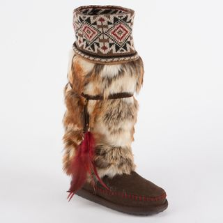 Muk Luks Lola Tall Faux Fur Boot with Knit Cuff