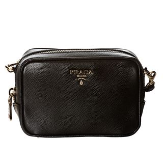 Prada Mini Black Saffiano Leather Cross body Bag