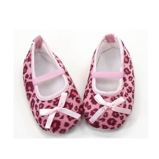 Pink Leopard Print Infant Girl Crib Shoes