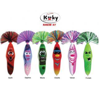 Kooky Klicker Krew 47 Pens with Clip on Key Chain (Set of Six