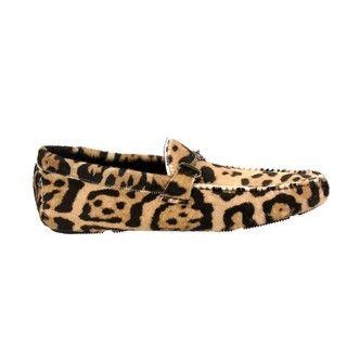 Roberto Cavalli Mens Macula Animal Print Loafers