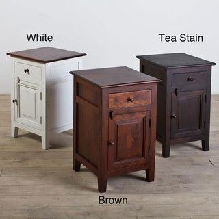 Handmade Rosewood Nightstand with Forged iron Hardware (India