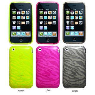 iPhone 3G/3GS Zebra Design Crystal Silicon Skin Case
