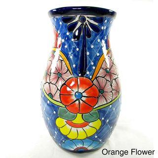 Mexican Talavera Style Clay Planter/Vase