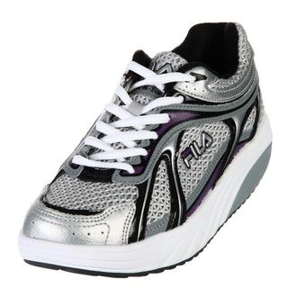 Fila Womens Sculpt N Tone Silver/Purple Sneakers