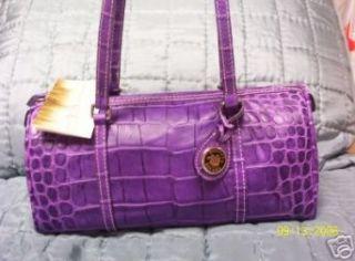 Dooney and Bourke Barrel Handbag,Nile Collection Purple