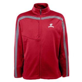 Wisconsin Badgers Jacket   NCAA Antigua Mens Viper