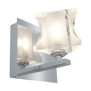 Access Glase 1 light Chrome Triangular Vanity Fixture
