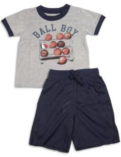 Wes and Willy   Boys Short Sleeve Shortie Pajamas, Grey