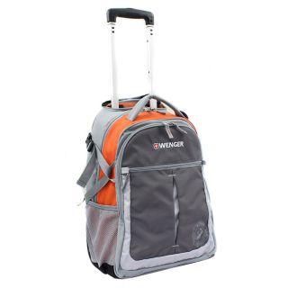 Wenger Swiss Gear Orange 20 inch Rolling Carry On Backpack