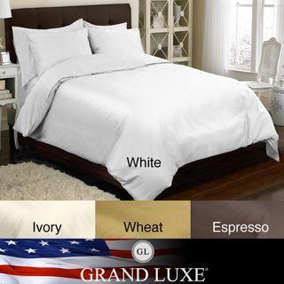 Grand Luxe Egyptian Cotton Sateen 800 Thread Count 6 piece Duvet Cover