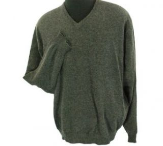 Club Room Cashmere V Neck Sweater Dark Charcoal Heather XX