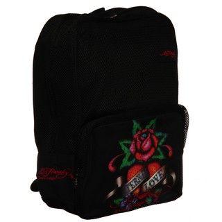 Ed Hardy Black Eternal Love Scarlet Mesh Backpack
