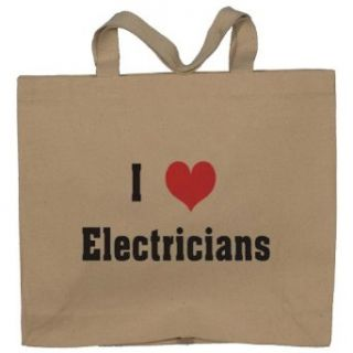 I Love/Heart Electricians Totebag (Cotton Tote / Bag