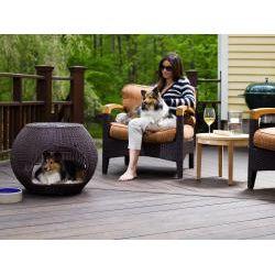Refined Canine Indoor/Outdoor Igloo Pet Bed (25 x 20)