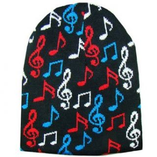 Multi Color Musical Tight Fit Beanie Skull Cap Hat