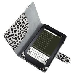 Leopard Leather Case/ Screen Protector/ Stylus for  Kindle Fire