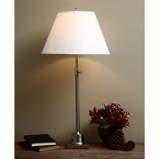 Brushed Nickel Large Library Table Lamp