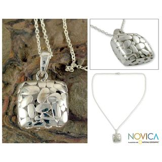 Sterling Silver Shining Cloud Necklace (India)