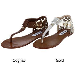 Steve Madden Womens Suttle Studded Thong Sandals