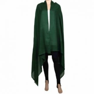 Wool Shawls in Solid Color Green Evening Wrap Women Dress